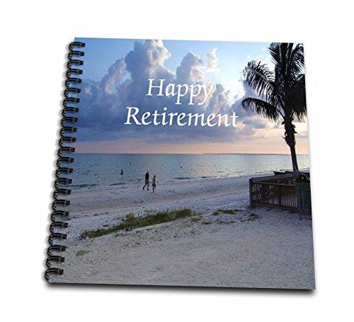 3dRose db_221579_2 Print of Happy Retirement On Photo of Florida Beach-Memory Book, 12 by - Retirement Album Photo