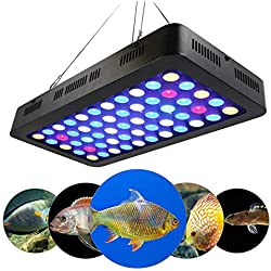 LED Plant Grow Light, 165W Lamp Plant Aquarium Lighting, Premium Double Chips Full Spectrum, Powerful Heat Dissipation System for Hydroponics Cultivation Flower Indoor Plants Grow
