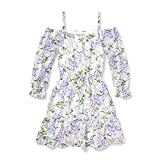 The Children's Place Big Girls' Long Sleeve Casual Dress, Simplywht 4370, S (5/6)