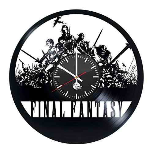Final Fantasy Science Fiction Game Handmade Vinyl Record Wall Clock Fun gift Vintage Unique Home decor...