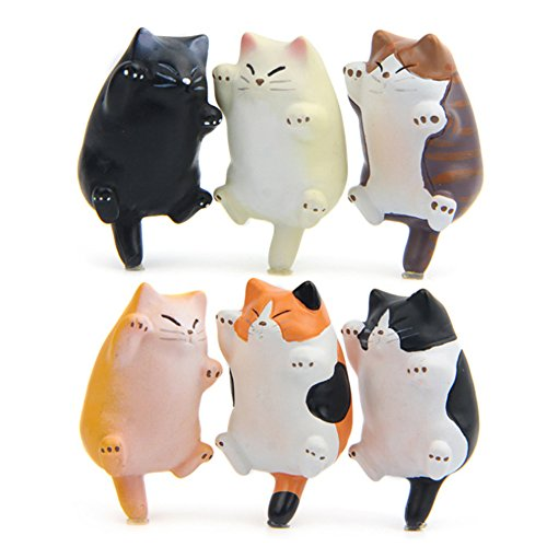 CHICHIC 6 Pack Fun Cat Refrigerator Magnets Office Magnet, Kitchen Toy Decor Fridge Cat Ornament, Perfect for Whiteboard, Refrigerator, Map, Notes, Calendar, Gift for Lady Cats Lovers Novelty Butt (Cat Magnets)