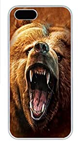 IPhone 5/5S Case Groovy Dog PC Hard Plastic Case for iPhone 5/5S Whtie