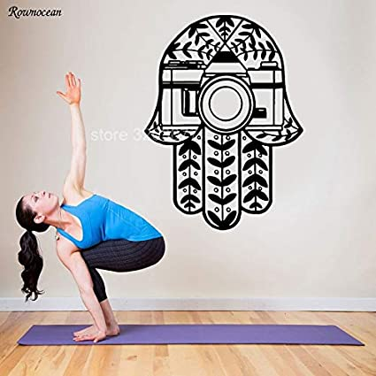 Amazon.com: scenariohome Hamsa Wall Decal Vinyl Sticker ...