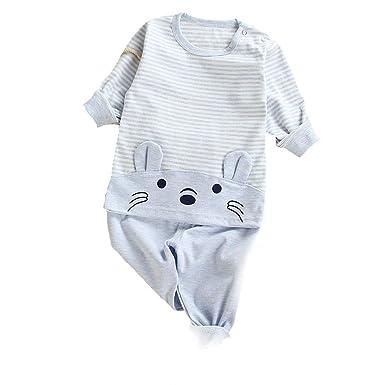 UK Newborn Baby Boy Girl Sleepwear Pajamas Pants Clothes Nightwear Outfits Set