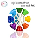 Ehome Hand Percussion Bells,8 Note Diatonic Metal Bells, Hand Bell, Musial Bells for Kids, Children and Toddlers, Musical Learning at an Early Age, Musical Toy Percussion Instrument.