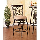Southern Enterprises Madison Swivel Counter Stool, Brown
