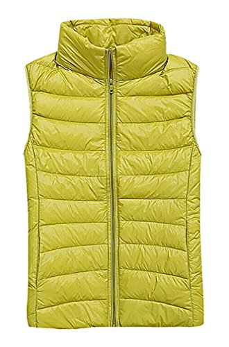 yellow quilted vest - 6