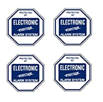 Security Decal #102 4 Commercial Grade Burglar ALARM System Deterrence Warning! Decals #102