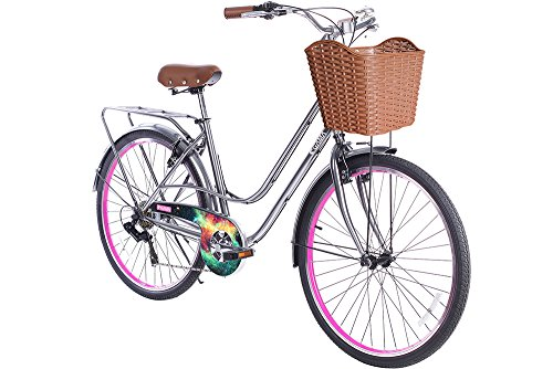 Women/'s Bike 26/'/' Hybrid Bike City Commuter 6 Speed Cruiser Bicycle