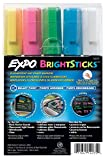 Sanford Wet Bright Sticks Wet-Erase Fluorescent Markers, Assorted Fluorescent Colors, 5-Pack (14075)