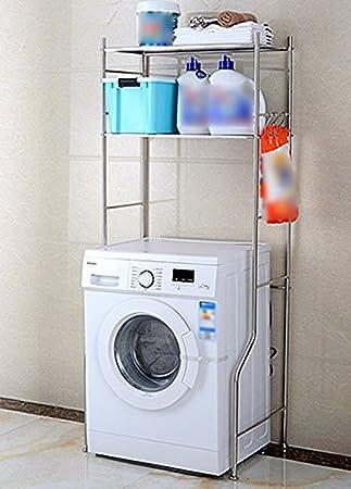 MENA HOME/ Edelstahl Waschmaschine Regal Roller Terrasse Badezimmer  Badezimmer Toilette Platzierung Waschmaschine Regal (