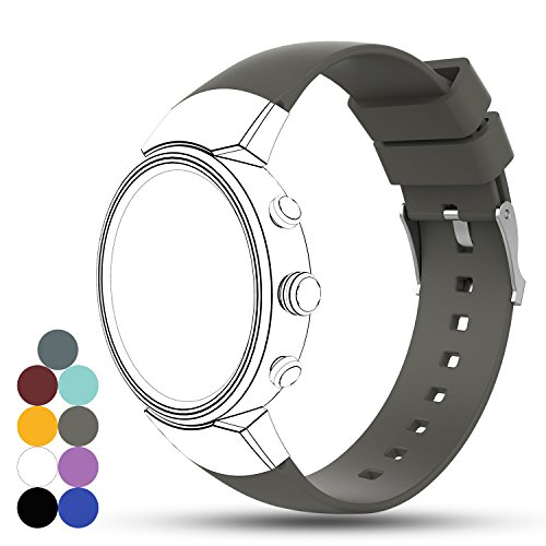 Zenwatch 3 Band, Feskio Accessory Soft Silicone Gel Replacement Watchband Strap Bracelet for ASUS ZENWATCH 3 Smart Fitness Watch