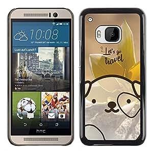 Dragon Case - FOR HTC One M9 - let's go travel - Caja protectora de pl??stico duro de la cubierta Dise?¡Ào Slim Fit