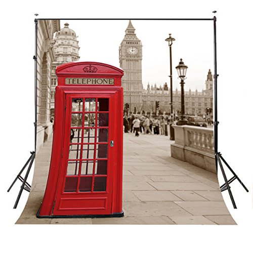 Lyly County 5x7ft Polyester Exquisite London Big Ben tower Photography Backdrop Retro Style Studio Club Photo Background Props (Upgrade material) - London Studio 5