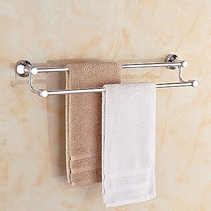 Espacio doble palanca de aluminio de toallas de baño Wc colgar toallas toallas luz 2248,
