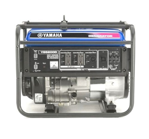 Yamaha YG5200D, 4500 Running Watts/5200 Starting Watts, Gas Powered Portable Generator, CARB Compliant