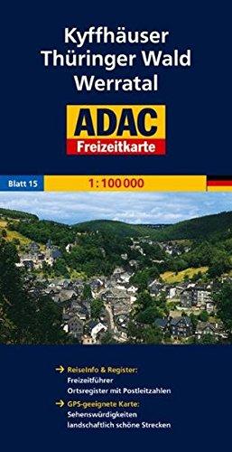 ADAC FreizeitKarte, Bl.15, Kyffhäuser, Thüringer Wald, Werratal (ADAC Freizeitkarten)