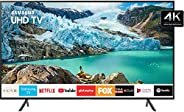"""Smart TV LED 58"""" 4K UHD Samsung UN58RU7100, Conversor Digital, 3 HDMI, 2 USB, Wi-Fi, Visual Livre de Cabo"""