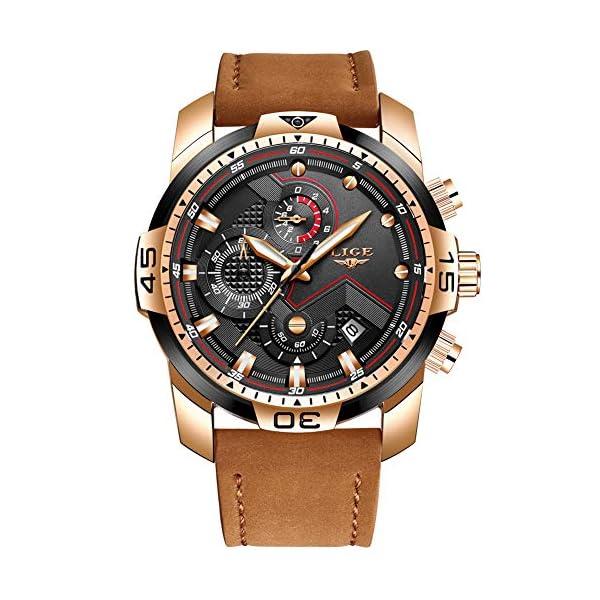0b3b0f95e3de LIGE Relojes para Hombre Militar Impermeable Deporte Cuarzo Analógico ...