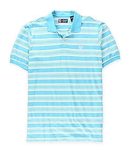 Chaps Mens Striped Logo Rugby Polo Shirt Blue Big 2X - Big & -