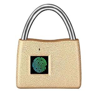 51muD5iQFWL. SS300 FYLD Lucchetto biometrico Impronte digitali keyless, Serratura per Bagagli, Blocco da Viaggio - Adatto a Scuola…