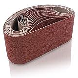 Coceca 3x18 Inches Sanding Belt, 21 Packs Aluminum