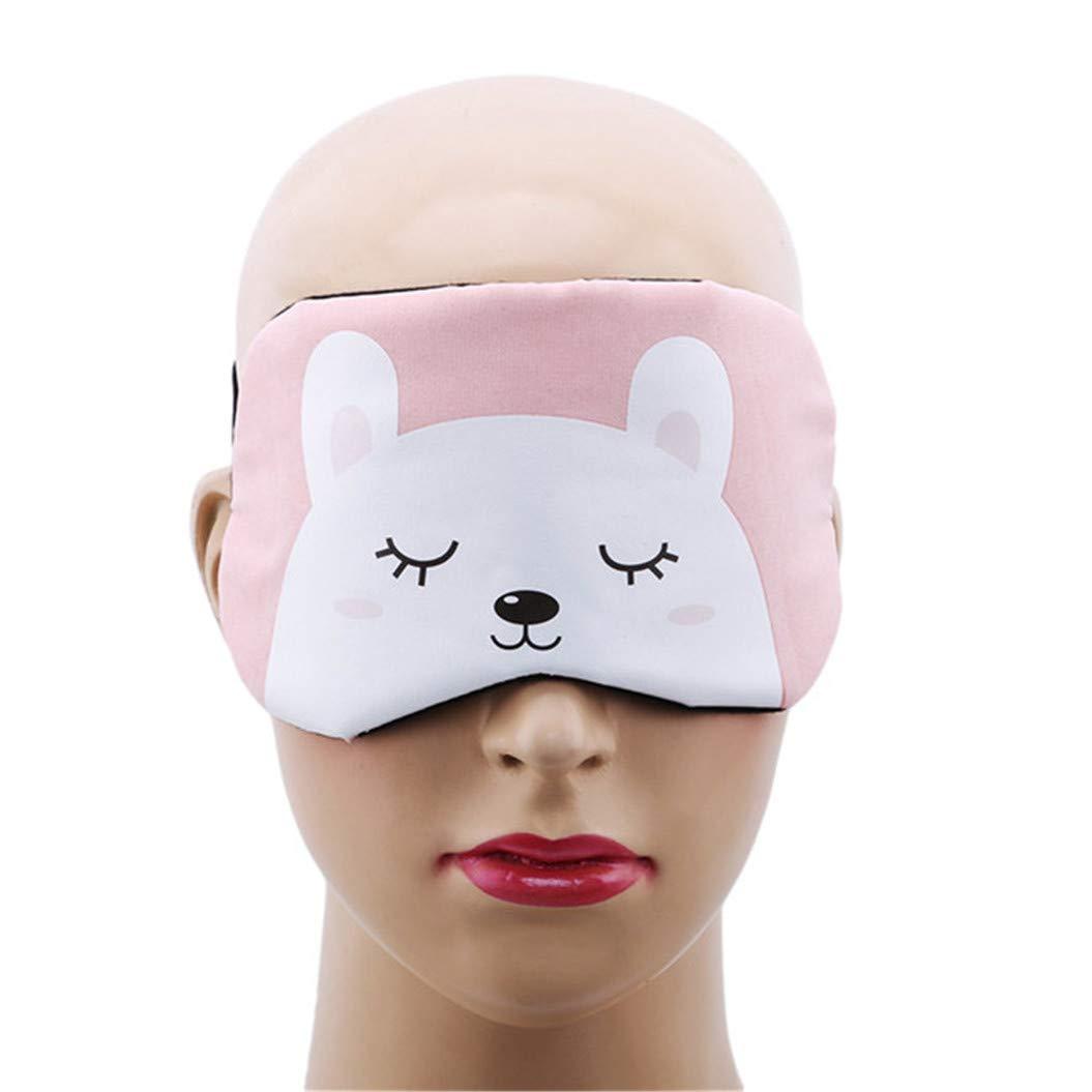 LZIYAN Cartoon Sleep Eye Mask Cute Animal Pattern Eye Mask Blindfold Eye Patch Sleeping Eyeshade Travel Shade Cover,White bear by LZIYAN (Image #4)