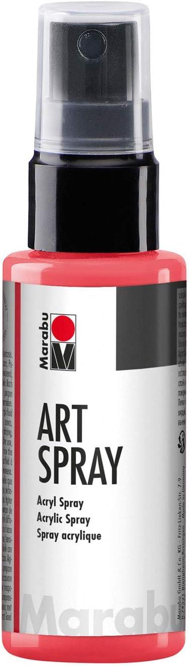 Marabu Art Spray, Acrylic Spray 50 ml, 1209 05, Color 123 Peperoni/Chilli