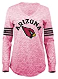 NFL Arizona Cardinals Women's Space Dye Long Sleeve V-Neck Tee, Red, Medium