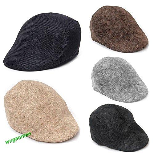 GohEunGyung shop Golf Flat Newsboy Unisex Herringbone Duckbill Ivy Hat Classic Wool Gatsby Cap