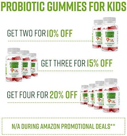 51muEE%2BMZPL. AC - MAV Nutrition Probiotics For Kids Vitamins - Flora Health Support Gummies With 2 Billion Live Probiotic Cultures Fiber Supplement; Natural Flavor; 60 Gummies