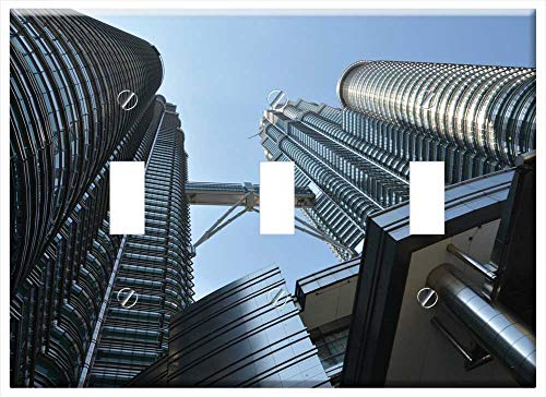 Switch Plate Triple Toggle - Petronas Towers Tall Building Skyscraper ()
