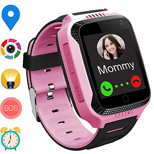 PalmTalkHome GPS Smart Watch for Kids - Boys Girls Smartwatch Phone with GPS/LBS Locator 2 Way Calls SOS Camera Voice Chat Math Game Step Counter Geo Fence for Kids Holiday Birthday Gifts