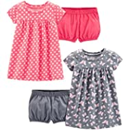 [Sponsored]Simple Joys by Carter's Baby and Toddler Girls' 2-Pack Short-Sleeve and Sleeveless...