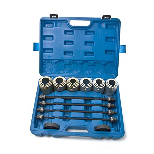 MOSTPLUS Universal Press and Pull Sleeve Remove Install Bushes Bearings Seals Tool Kit-25 Pieces (Manual Kit Installation)