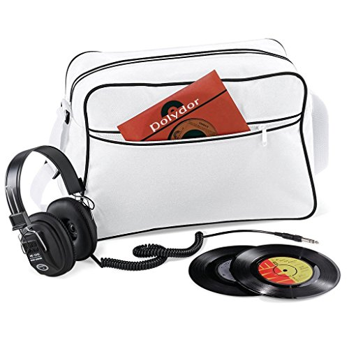 Bagbase Black White Shoulder Bg14 Retro Bag 06v0qrP