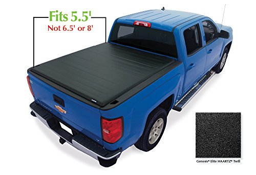 Lund 96892 Genesis Elite Roll Up Truck Bed Tonneau Cover for 2007-2018 Silverado & Sierra 1500, 2500 HD, 3500 HD | Fits 5.5' Bed - Lund Soft Roll