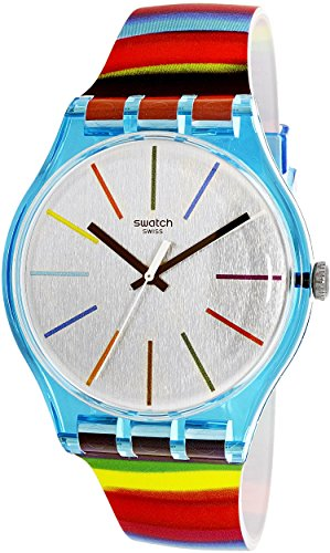 Swatch Women's Originals SUOS106 Multicolor Silicone Quartz Fashion Watch