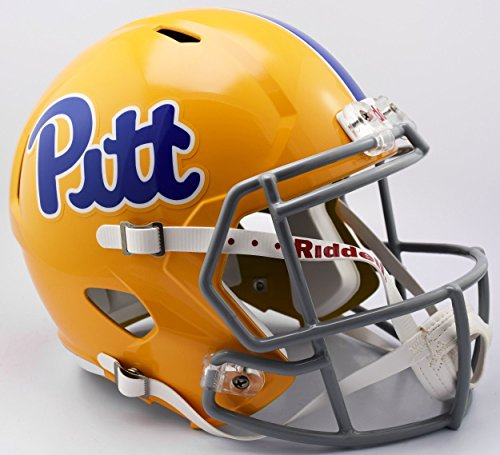 Pitt Panthers Collectibles - Riddell PITTSBURGH PANTHERS PITT NCAA SPEED Full Size REPLICA Football Helmet