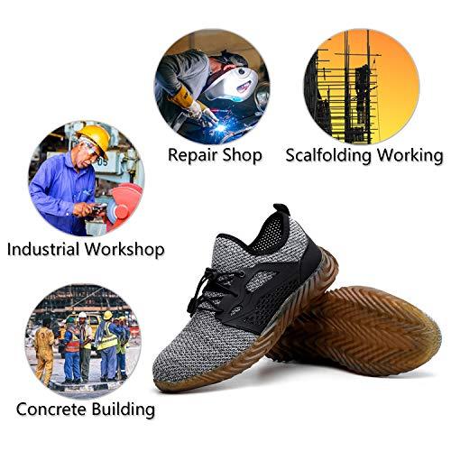 8bec3f6f09d52 Finders | UPSTONE Mens Steel Toe Safety Work Shoes, Lightweight ...