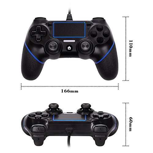 LREGO Wired Controller for PS4, DualShock 4 Wired Controller Wired Gamepad with 1.9m Cable(Updated) by LREGO (Image #4)