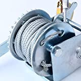 YaeTek-600lbs-Hand-Winch-Hand-Crank-Strap-Gear-Winch