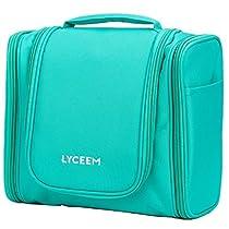 LYCEEM 3 Space Hanging Toiletry Bag Travel Organizer
