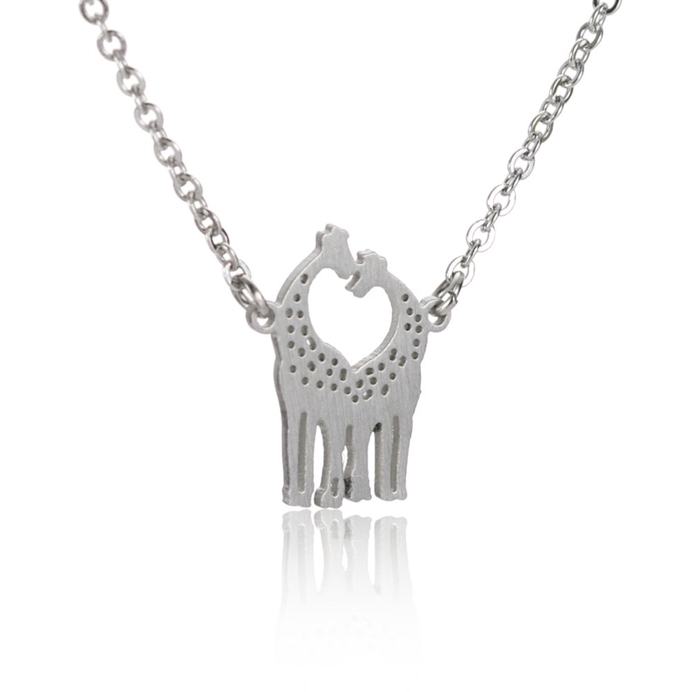 Giraffe Tiny Delicate Necklace - Best Friend Charm Love Stainless Steel Jewelry Gift