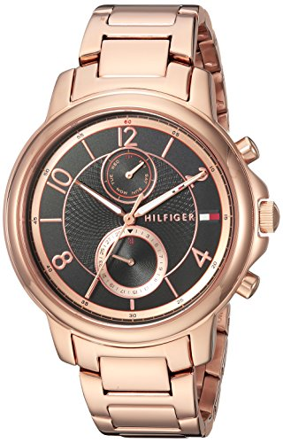 Tommy Hilfiger Women's 'Sophisticated Sport' Quartz and Stainless-Steel-Plated Casual Watch, Color Rose Gold-Toned (Model: 1781820)