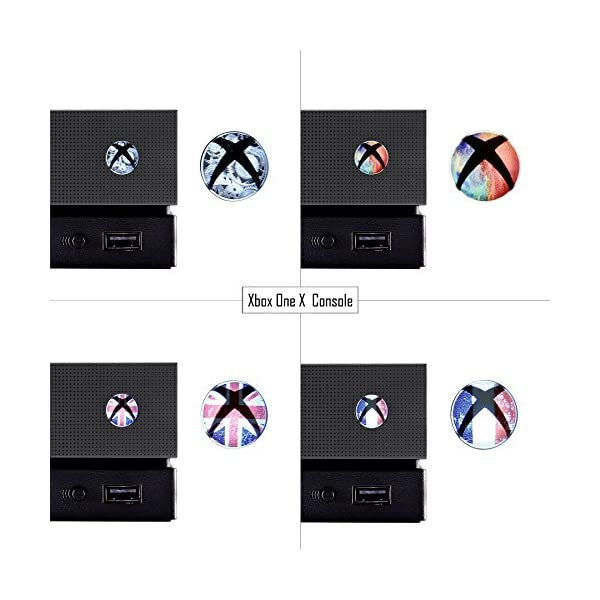 eXtremeRate 60 pcs Custom Home Button Power Switch Stickers Skin Cover for Xbox Series X/Xbox Series S/Xbox One/One X… 5