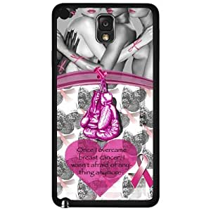 Pink Breast Cancer Awareness Hard Snap on Phone Case with Quote (Note 3 III)