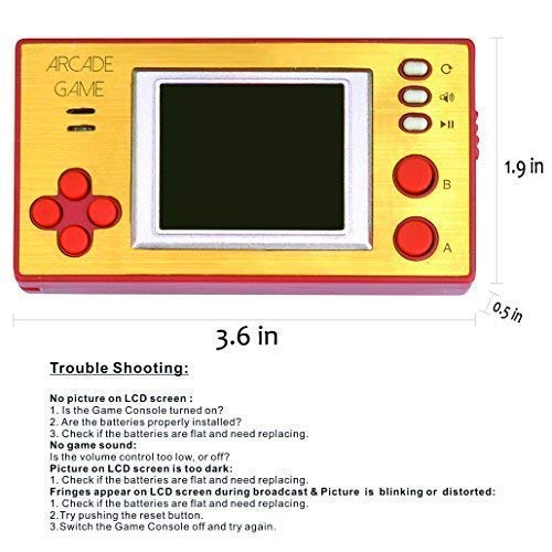 Handheld Portable Arcade Video Game Console iWawa Retro Pocket 150+ Games for Kids to Adult by IWAWA (Image #2)