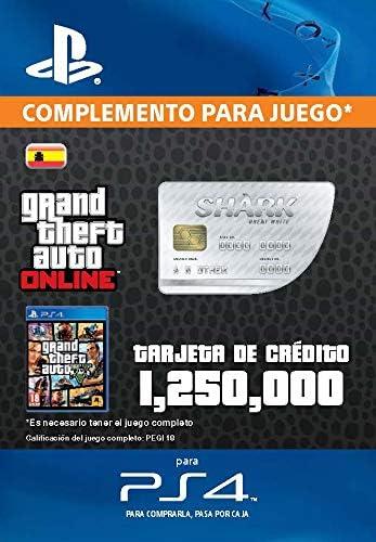 Grand Theft Auto Online - GTA V Cash Card   1,250,000 GTA-Dollars   Código de descarga PS4 - Cuenta Española: Amazon.es: Videojuegos