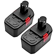 Powerextra Upgraded 2 Pack 18V 3000mAh NI-MH Replacement Battery for Ryobi ONE+ 18V P100 P101 Cordless Power Tools Ryobi 18V Battery